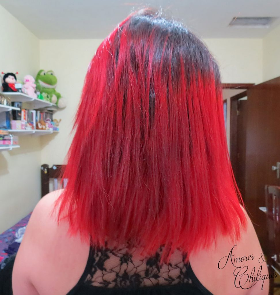 fancy red salon line