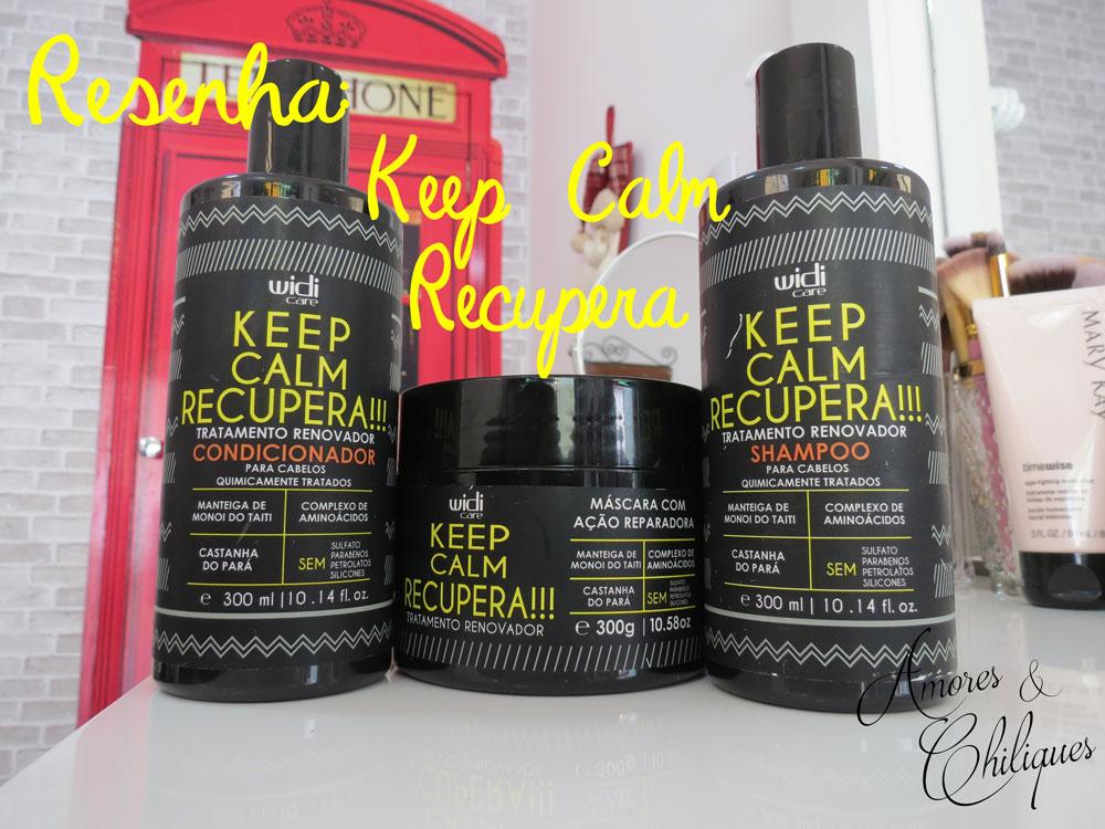 keep calm recupera resenha