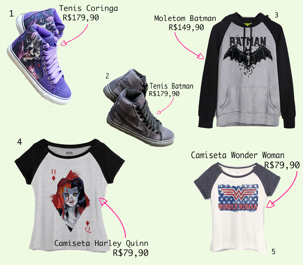 moda geek wishlist dc comics