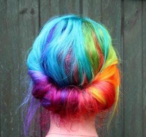verão 2018 rainbow hair