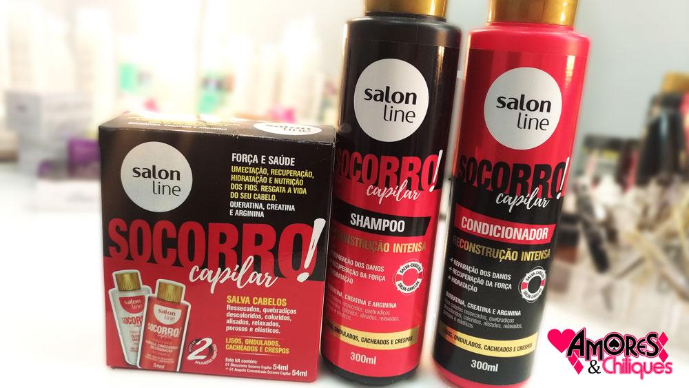Socorro Capilar Salon Line resenha completa